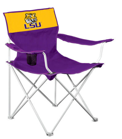 Logo Chairs LSU Collegiate Team Canvas Chair Purple/Yellow