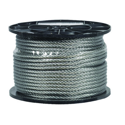 Campbell Chain Galvanized Steel Aircraft Cable 1/4 in. Dia. x 250 ft. L