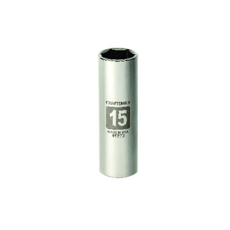 Craftsman 15 mm x 3/8 in. drive Metric 6 Point Deep Socket 1 pc.