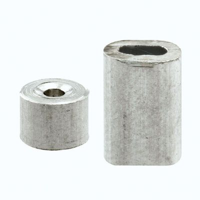 Prime-Line 3.9 in. W x 5.4 in. L x 1/16 in. Dia. Aluminum Cable Ferrules and Stops