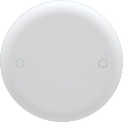 Thomas & Betts Round PVC 1 Gang Outlet Box Cover For For Fire Wall Assemblies White 5/16 in. H