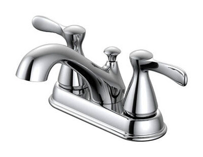 OakBrook Doria Two Handle Lavatory Pop-Up Faucet 4 in. Chrome