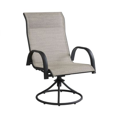 Living Accents Black Steel Kensington Swivel Chair