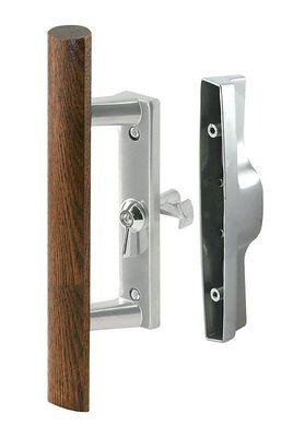Prime-Line Sliding Screen Door Handle Steel Outdoor Wood/Silver Left Handed