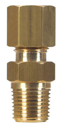 Ace 3/8 in. Dia. x 1/2 in. Dia. Brass Compression Connector