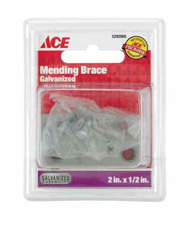 Ace 2 in. H Steel Mending Brace 4 Galvanized