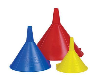 Custom Accessories Assorted Plastic Funnel Set 3 pc.