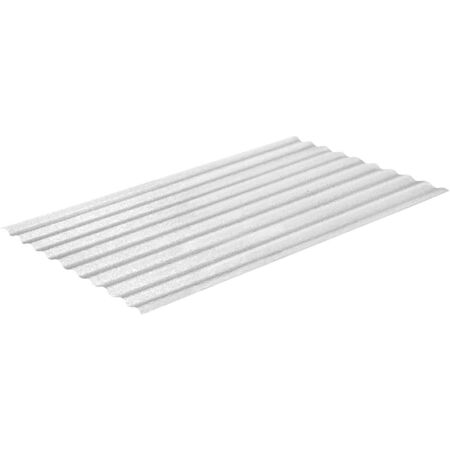 Sequentia WeatherGlaze 26 In. x 10 Ft. Translucent Round 1-Sided Fiberglass Corrugated Panels