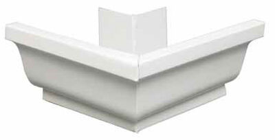 Amerimax 5 L x 7.25 in. W x 5 in. H Aluminum K Outside Miter White