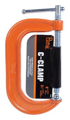 Bessey Steel Adjustable C-Clamp 6 in. x 3 in. D