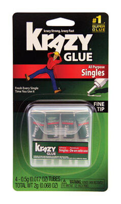 Instant Krazy Glue All Purpose Singles 5