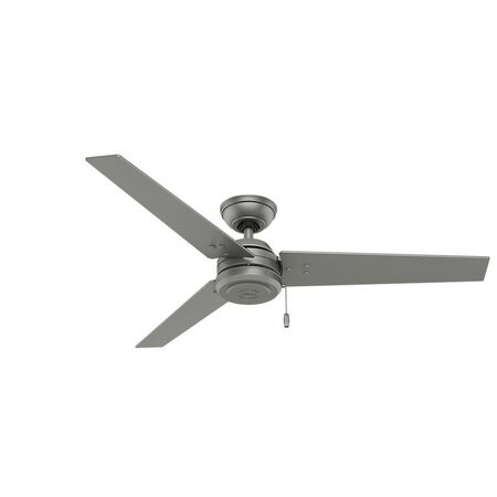Hunter Cassius 52 in. Indoor/Outdoor Matte Silver Ceiling Fan