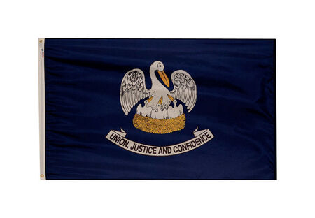 Valley Forge Louisiana Flag 3 ft. H x 5 ft. W