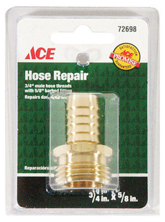Ace 5/8 in. Hose Barb x 3/4 in. MHT Brass Hose Repair Male Threaded