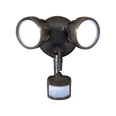 All-Pro Bronze Metal Security Light Motion-Sensing LED 120 volts 20.5 watts