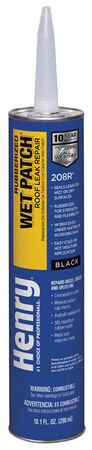 Henry Rubber Based Wet Patch Roof Cement 10.1 oz. Black