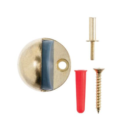 Ace Metal Floor Mount Door Stop 1-1/8 in. H x 1-3/4 in. L Bright Brass