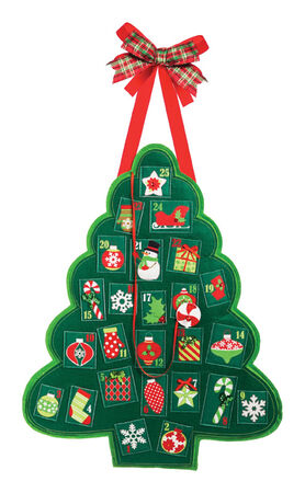 Evergreen Advent Tree Door Hanger Red/Green Felt 18-1/2 in. H x 23 in. W x 1/2 in. D 1 pk