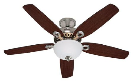 Hunter Fan Builder Deluxe Ceiling Fan 52 in. W Brushed Nickel