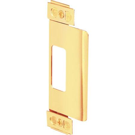 Prime-Line Adjustable Door Strike 3/8 in. 6.9 in. x 3.8 in. x 0.5 in. Brass Steel 1/Set