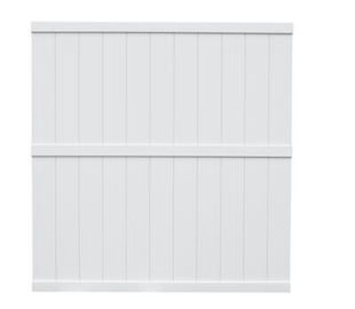 White 6 x 6 Vinyl Panel Privacy Fence