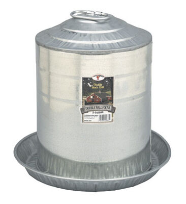 Miller 5 gal. Poultry Fount For Poultry 15-1/4 in. H x 15-1/4 in. D