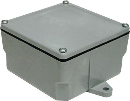 Cantex 4 in. H Square Junction Box Gray PVC