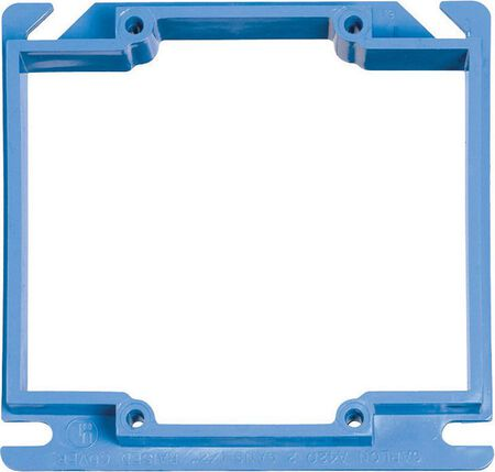 Carlon Square PVC 2 gang Box Cover For Use with 1/2 in. Dry Wall Blue