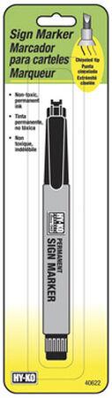 Hy-Ko Black Chisel Tip Permanent Marker 1 pk