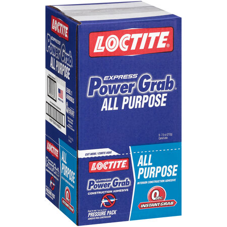 Loctite Power Grab All Purpose Synthetic Latex All Purpose Construction Adhesive 7.5 oz.