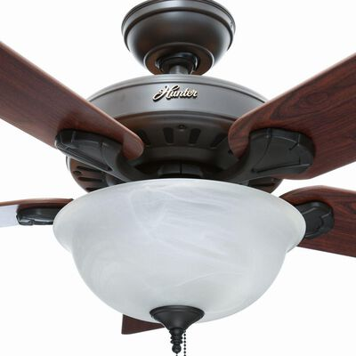 Hunter Pro's Best Five Minute 52 in. Indoor New Bronze Ceiling Fan with Light Kit