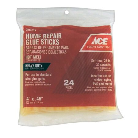 Ace Glue Sticks 0.5 in. Dia. x 4 in. L 24 pk
