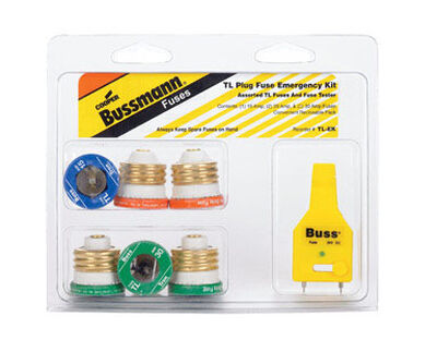Bussmann Plug Fuse Kit 30 amps 125 volts 1-3/16 in. Dia. x 1-5/16 in. L 7 pk For Small Motor And I