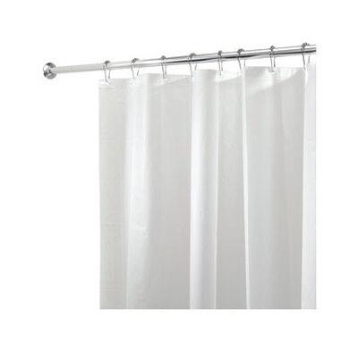 InterDesign 72 in. H x 72 in. L White Solid Shower Curtain Liner