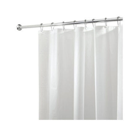 InterDesign 72 in. H x 72 in. L White Solid Shower Curtain Liner