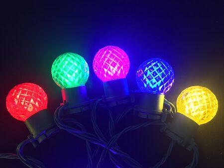 Celebrations Platinum G45 Faceted LED Light Set Multicolored 23 24 lights
