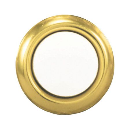 Heath Zenith Polished Brass Wired Pushbutton Doorbell