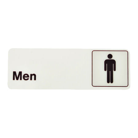 Hy-Ko English 3 in. H x 9 in. W Plastic Sign Men