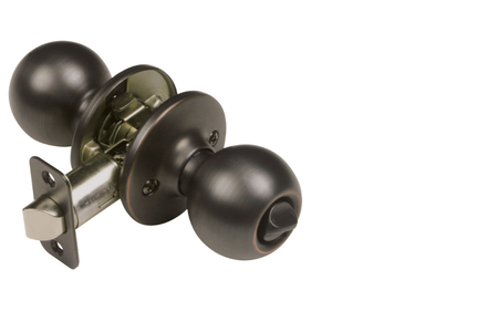 Pro Ball Bed and Bath Door Knob, Oil Rubbed Bronze