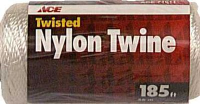 Ace 24 in. Dia. x 185 ft. L Twisted Nylon Mason Line White