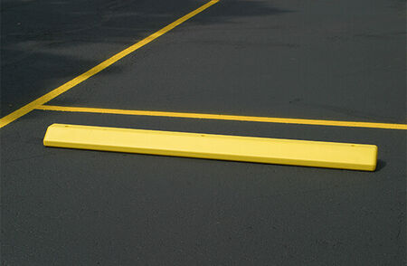 Parking Lot Bumper Yellow Plastic 6'