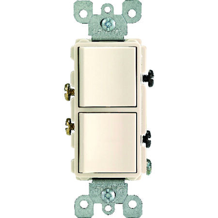 Leviton 1 15 amps Light Almond Combination Combination Switch 1 Combination
