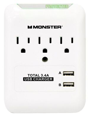Monster 3 outlets Surge Tap White