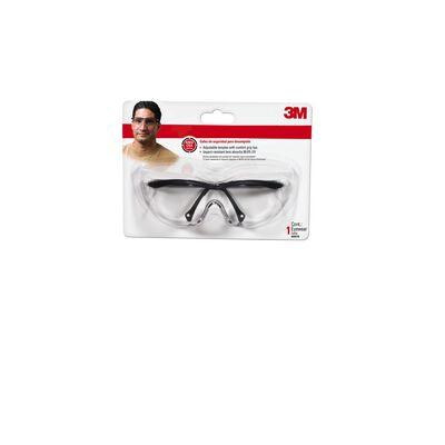 3M Tekk Multi-Purpose Safety Glasses Antifog Clear Lens Black Frame Carded