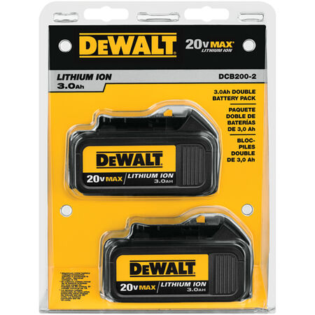 20V MAX* Lithium Ion Battery 2 Pack