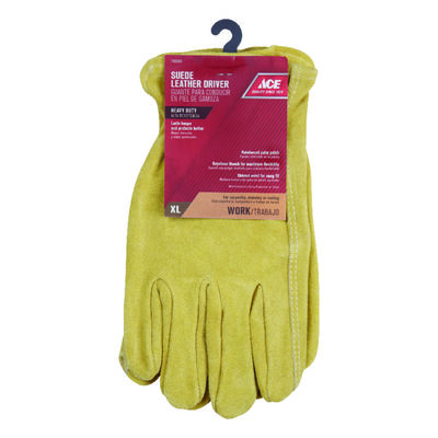 Ace Saddletan Universal Extra Large Suede Cowhide Work Gloves