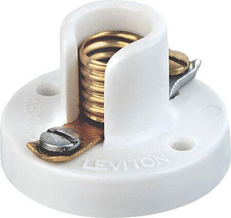 Leviton Keyless Socket 120 volts 75 watts White