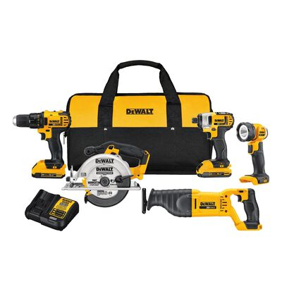 DeWalt 20V MAX 5 pc. Cordless Combo Kit Lithium Ion