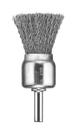 "1"" x 1/4"" HP .014 Carbon Crimp Wire End Brush"