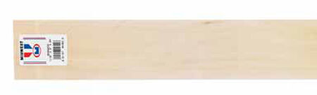 Midwest Products Basswood Sheet 1/16 in. x 3 in. W x 2 ft. L